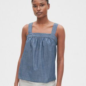 Gap Apron Tank Top In Chambray Denim #467865